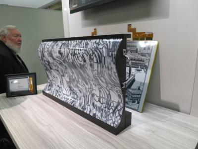 32'' flexible E Ink display at SID 2016