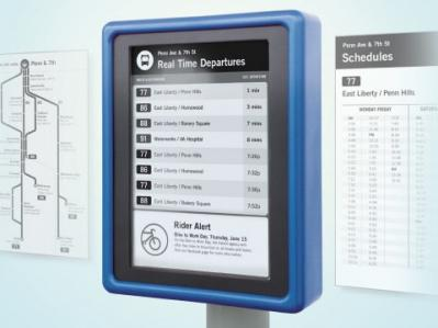 CHK E Ink Digital Bus Stop photo