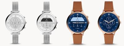 Fossil Monroe and Charter Brown Leather HR watches