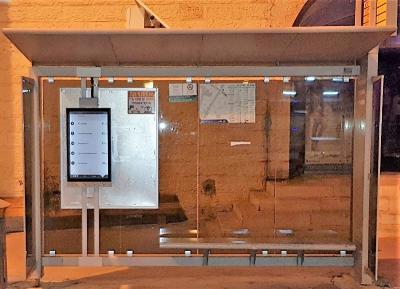 Papercast e-paper bus stops at JTMT