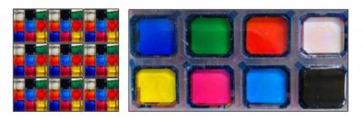 Solchorma full-color pixel array photo