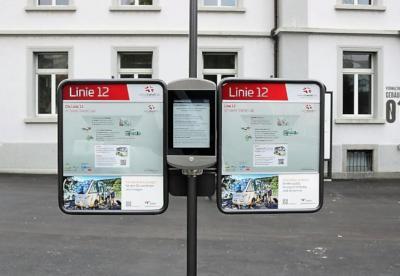 Trapeze - papercast E Ink transporation signage photo