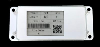 Ubiik Weightless 2.7-inch ePaper tag photo