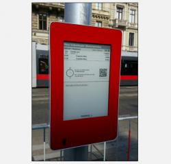 Vienna Airport Line E Ink sign