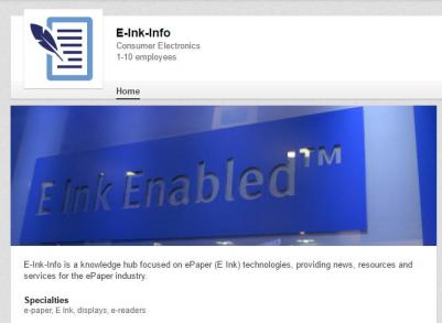E-Ink LinkedIn company page photo
