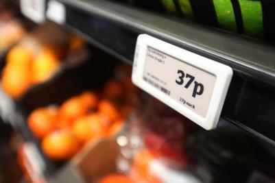 Sainsbury E Ink shelf labels