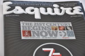 Esquire magazine E Ink display photo