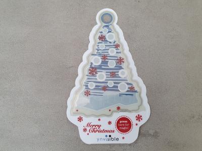 Merry electrochromic display christmas card